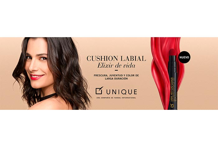 Unique presenta el primer labial anti edad Cushion, color y juventud en un solo labial