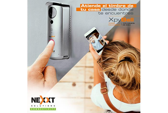 XpyBell de Nexxt Solutions Connectivity Video en vivo desde tu teléfono inteligente o tablet, al instante