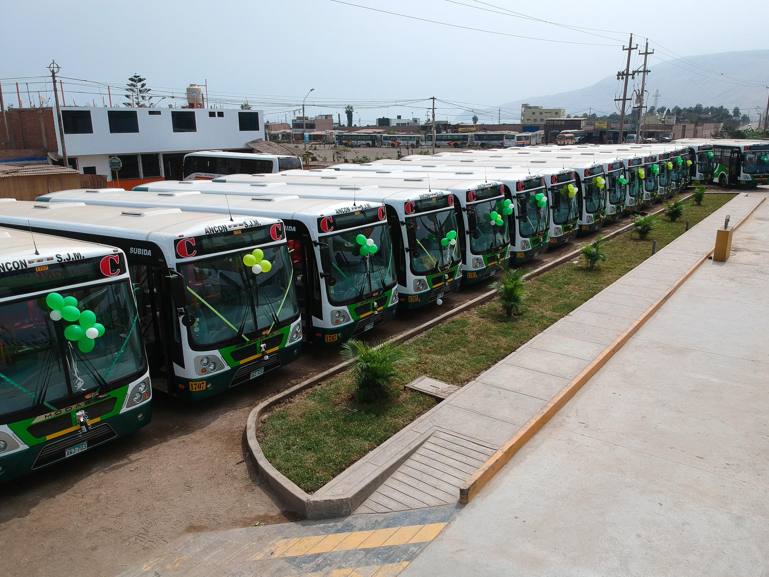 MOTORED realizó la entrega de buses más grande de los últimos años