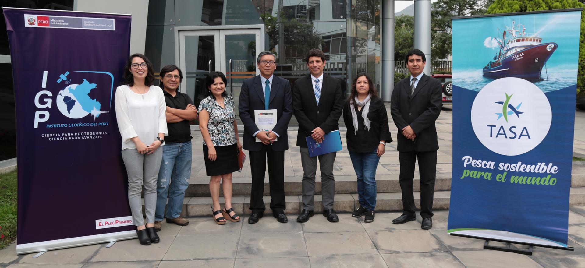TASA y el IGP firman convenio para monitorear el mar peruano y realizar investigaciones conjuntas
