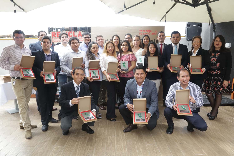 Claro Perú reconoció el compromiso ambiental de empresas e instituciones que se sumaron al reciclaje de celulares