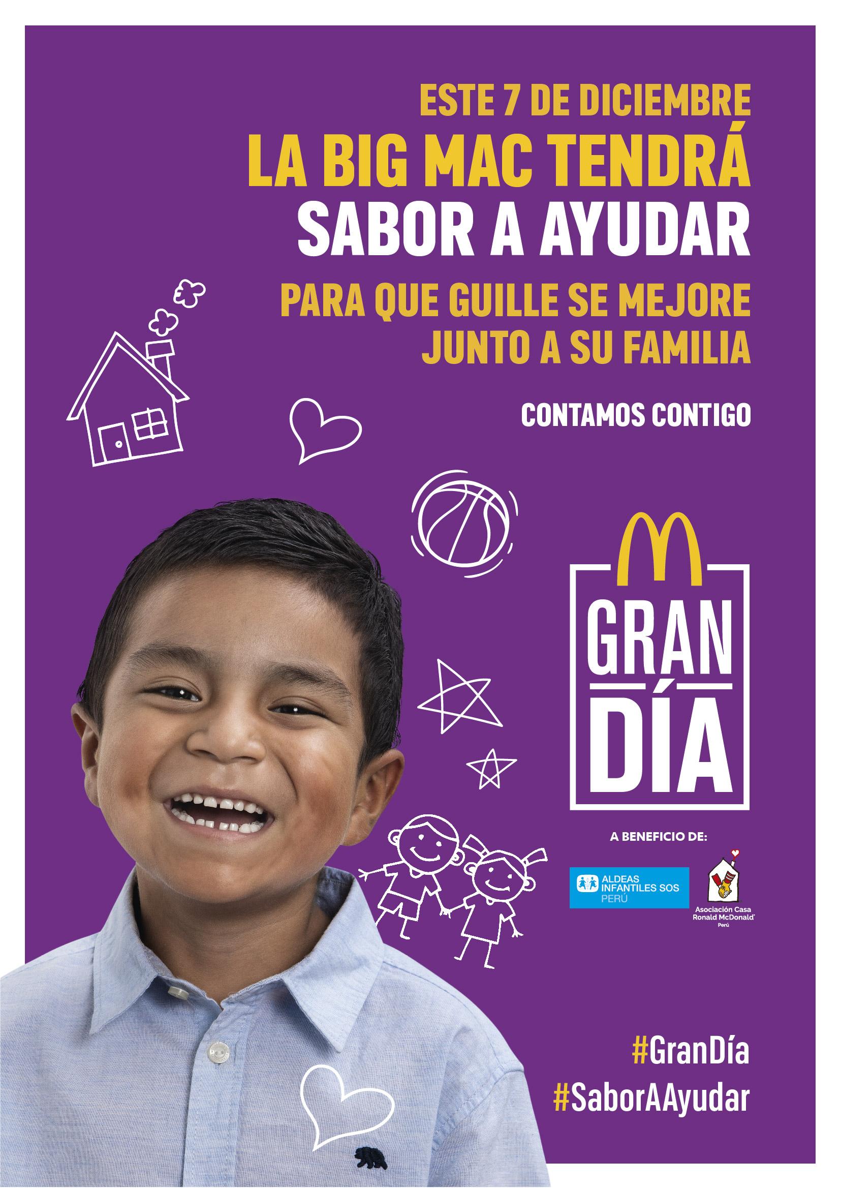 McDonald's donará las ventas de sus Big Mac en un Gran Día solidario