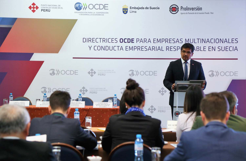 ProInversión promueve Directrices OCDE para empresas multinacionales