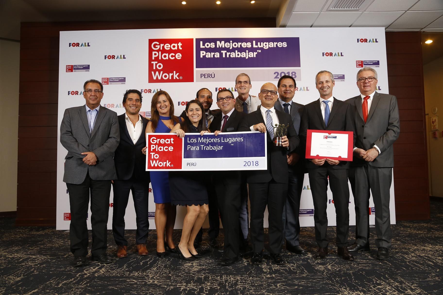 Pandero S.A reconocido como una de las mejores empresas para trabajar en el Perú