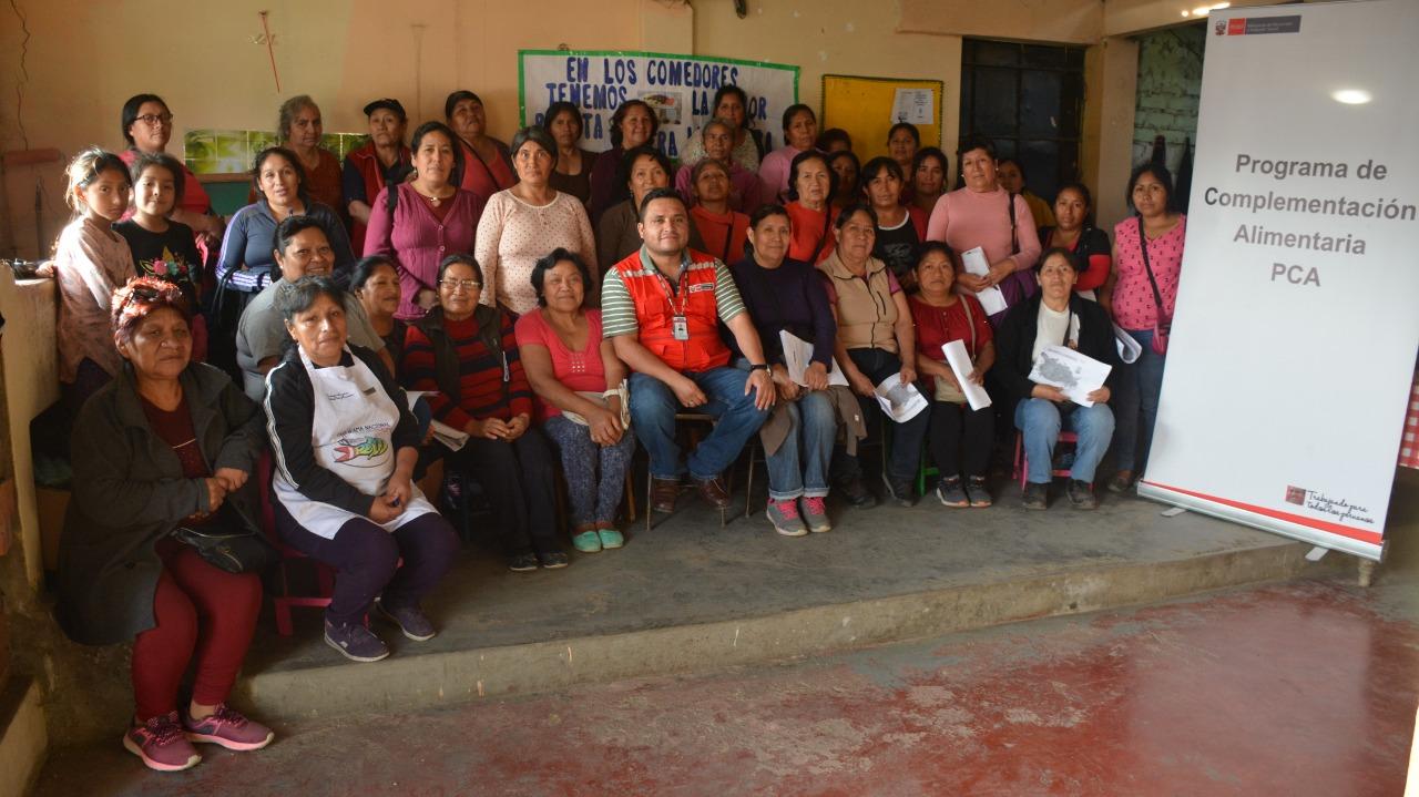Madres de comedores populares de Carabayllo, Villa María del Triunfo, San Juan de Lurigancho y Cusco son capacitadas en temas de lucha contra la anemia