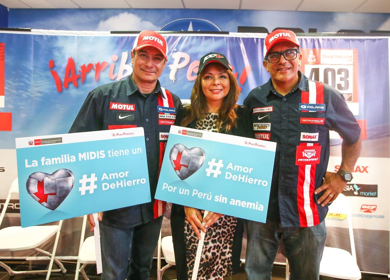 Ministra La Rosa resalta participación del embajador de la Lucha contra la Anemia, Aníbal Aliaga en Competencia Rally Dakar Perú 2019