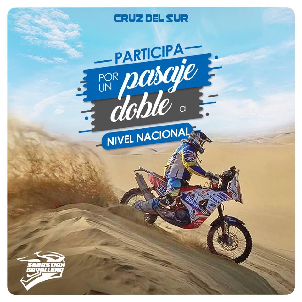Cruz del Sur apoya a compatriota Sebastián Cavallero en Dakar 2019