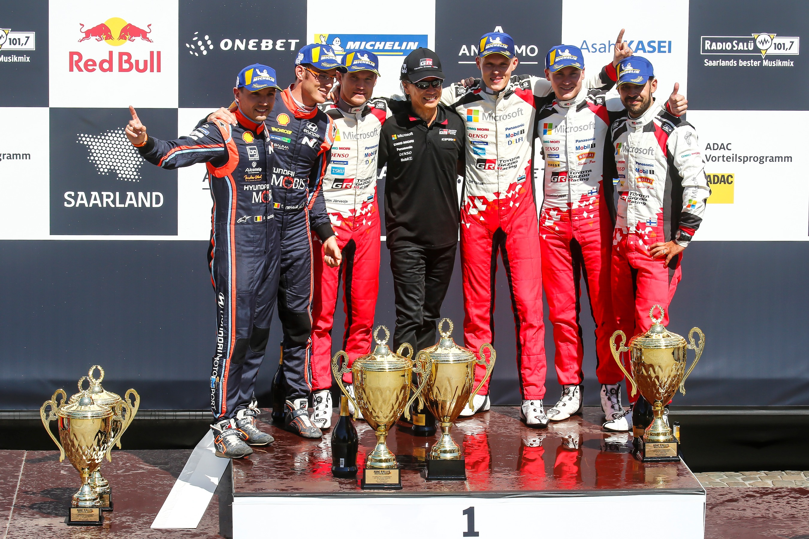 Toyota Yaris WRC, auto vencedor del Rally de Alemania