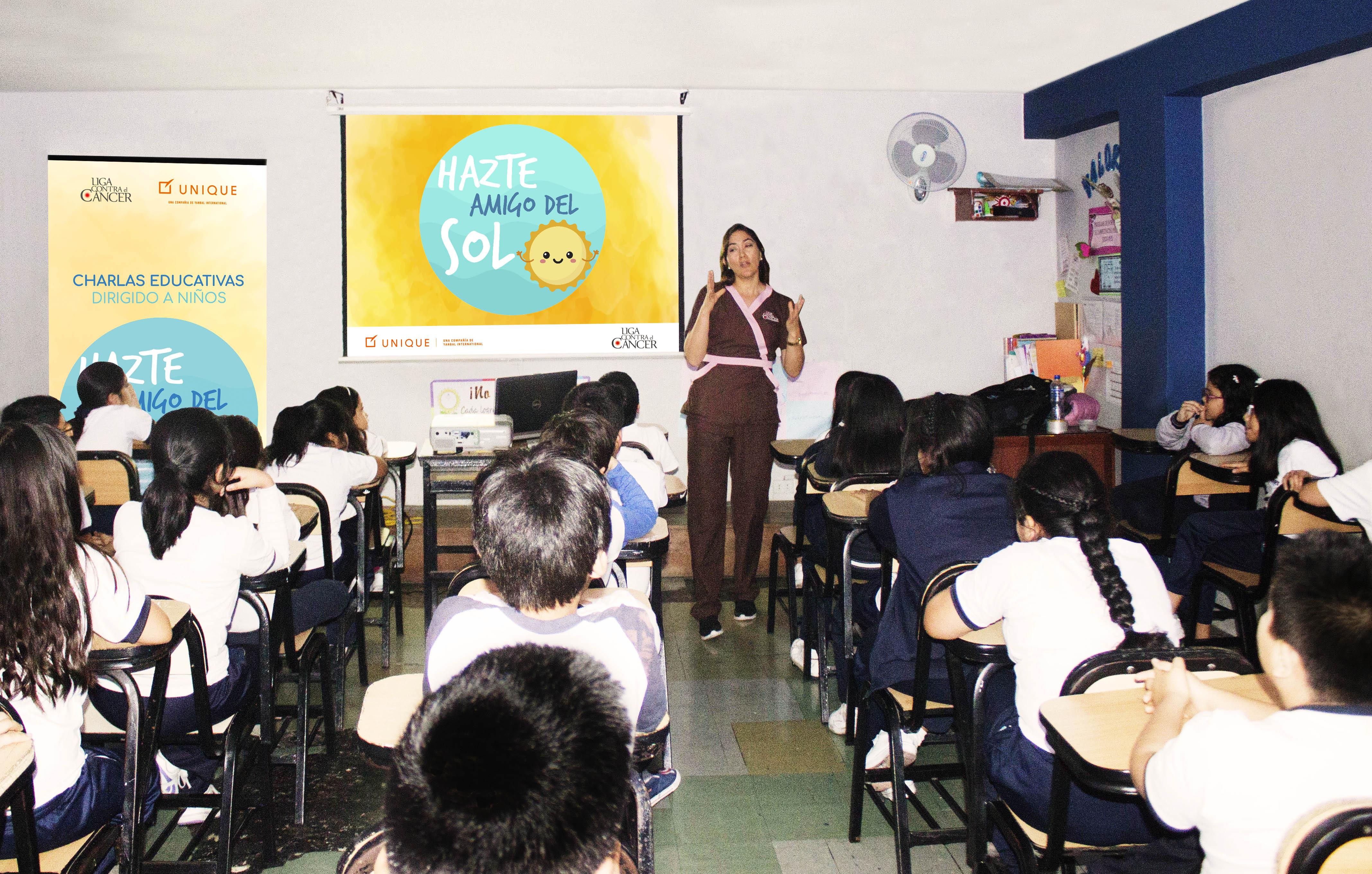 Unique y la Liga Contra el Cáncer realizan campaña sobre cuidado de la piel en colegios de Lima