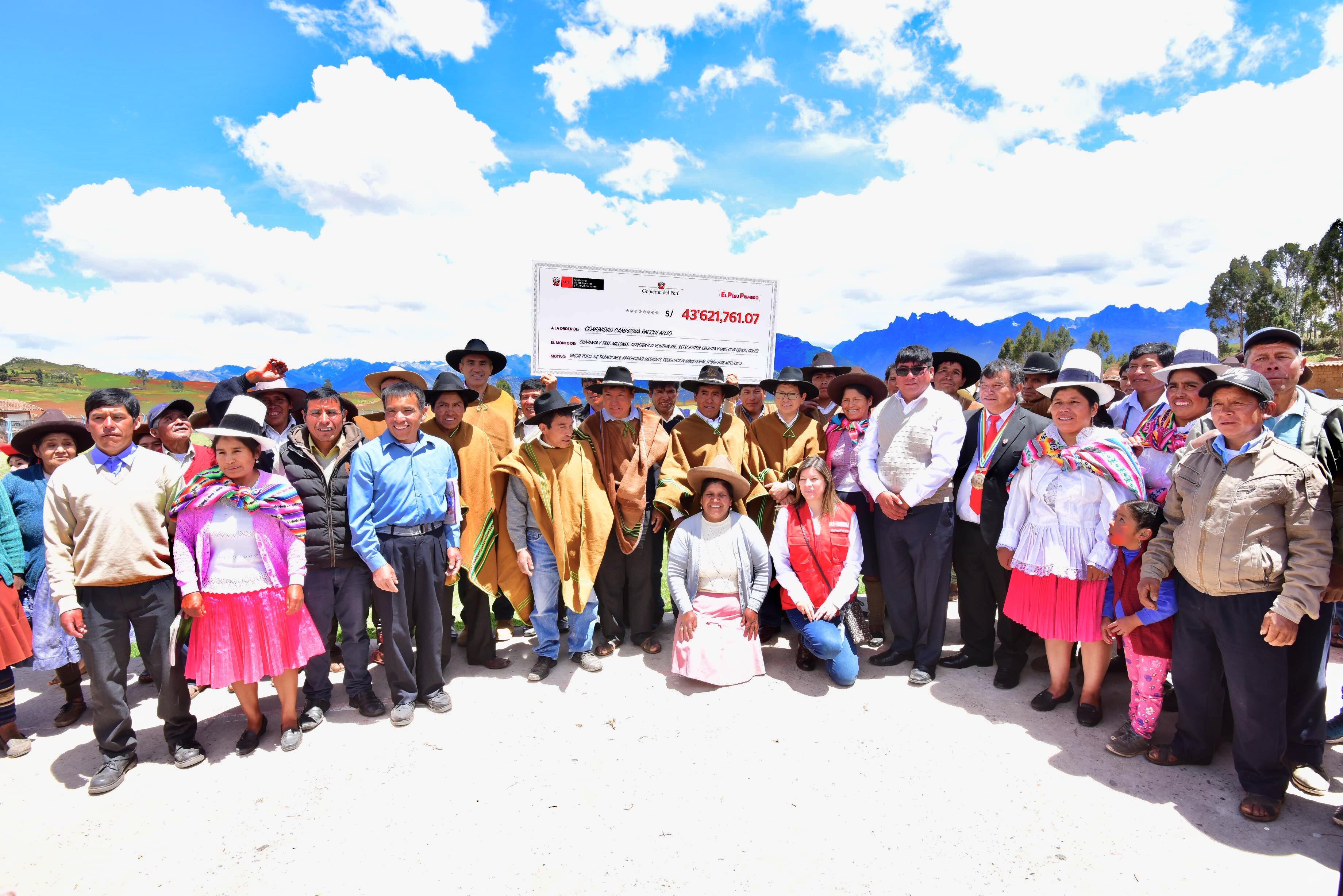 MTC suscribe contrato para el movimiento inicial de tierras para el aeropuerto internacional de Chinchero en Cusco