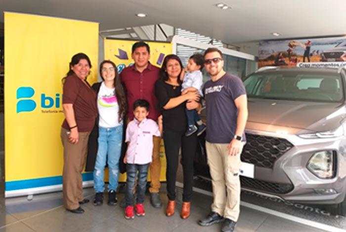 Bitel premió a cliente con una camioneta Hyundai Santa Fe 0KMS!