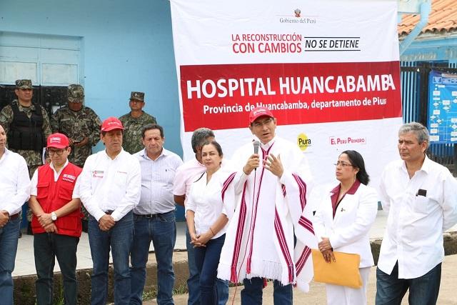 Se inició reconstrucción de tres hospitales Huancabamba, Huarmaca y Ayabaca de Piura