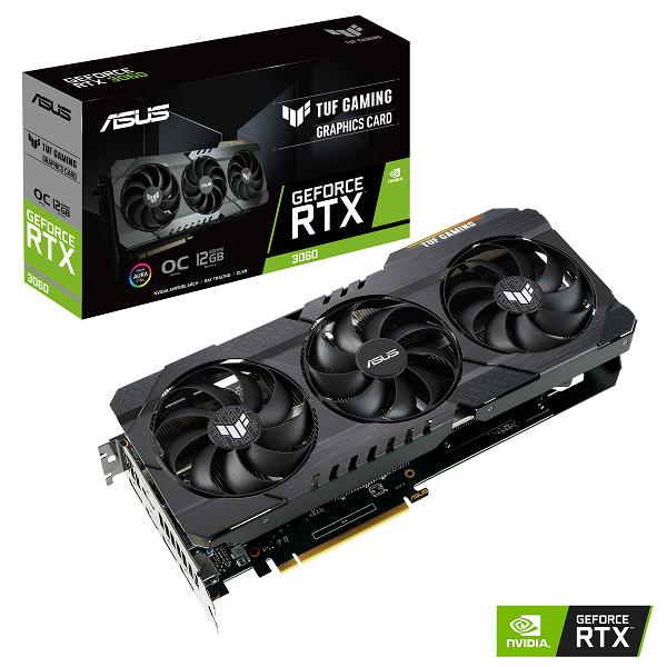 ASUS anuncia las Tarjetas Gráficas de la serie GeForce RTX 3060 de 12 GB