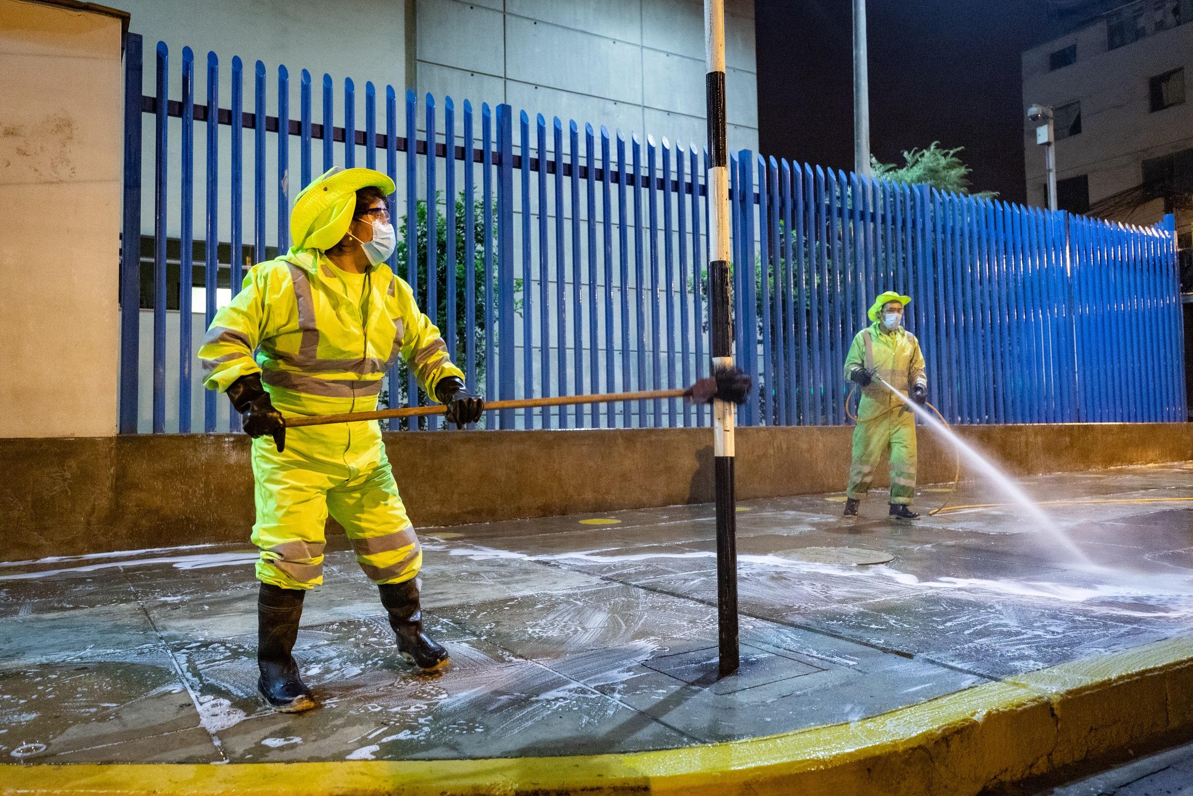 Municipalidad de Lima desinfectó exteriores de Hospitales Almenara, Dos de Mayo y Emergencias Grau