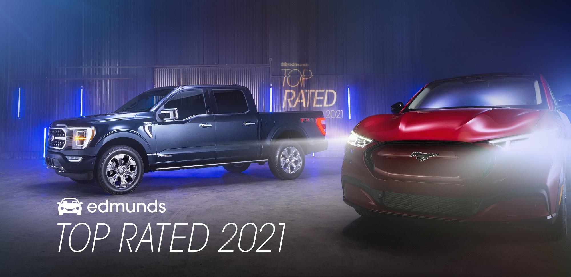 F-150 y Mustang Mach-E se imponen en los Edmunds Top Rated Awards 2021