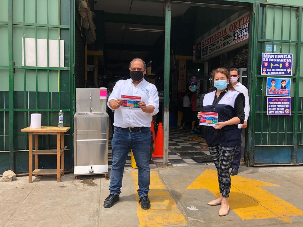 Refuerzan protocolos sanitarios en mercados de Santa Anita