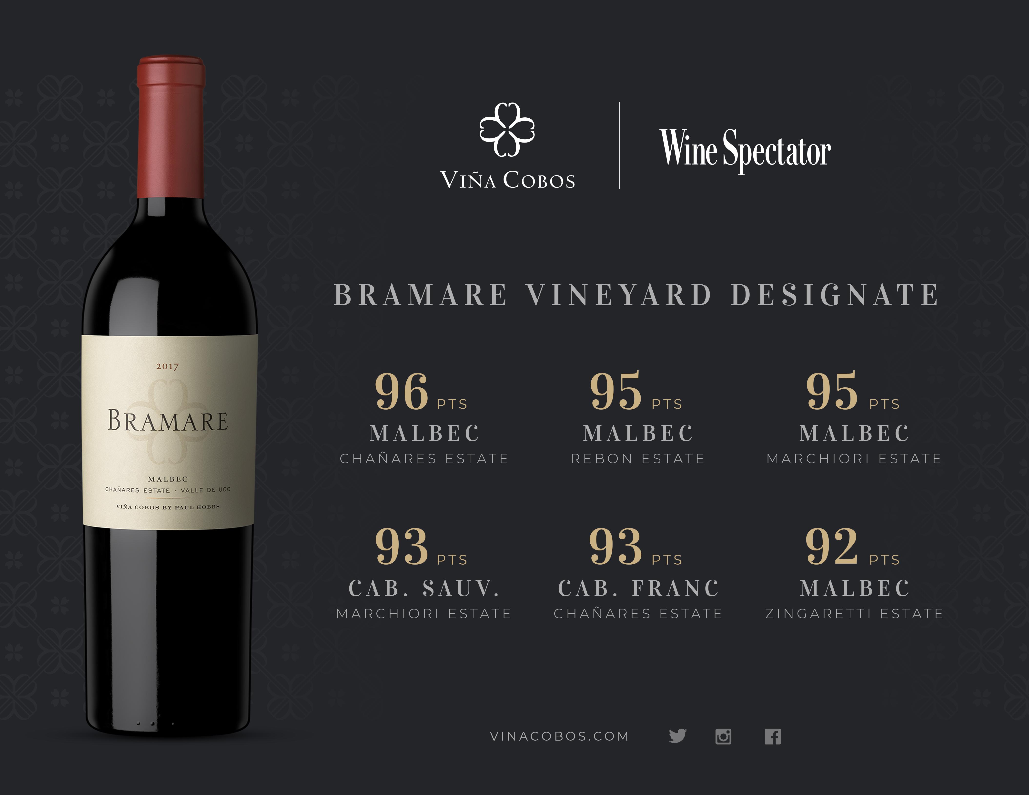 "Viña Cobos lidera el ranking ""Wine Spectator Argentina Report 2020"""