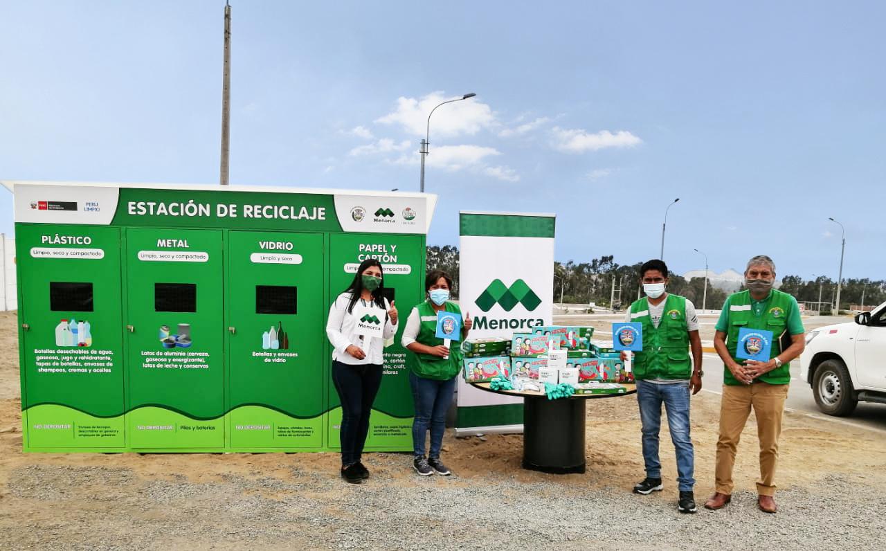 Menorca Inversiones realiza donativo de tres contenedores de reciclaje a ciudadanos de Pachacamac y Mala