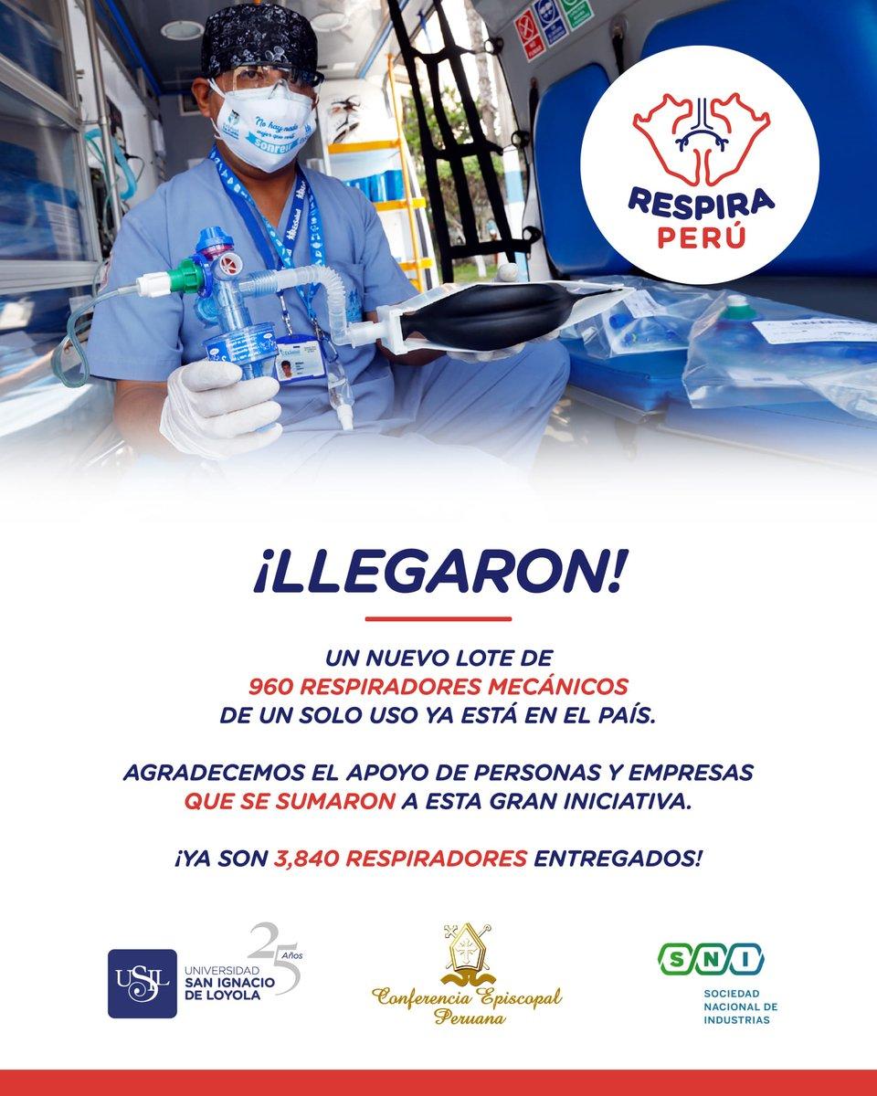 Nuevo lote de 960 respiradores mecánicos llegaron al Perú
