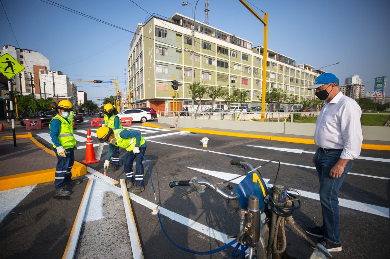 Municipalidad de Lima inició trabajos de mantenimiento integral en la Vía Expresa de Paseo de la República