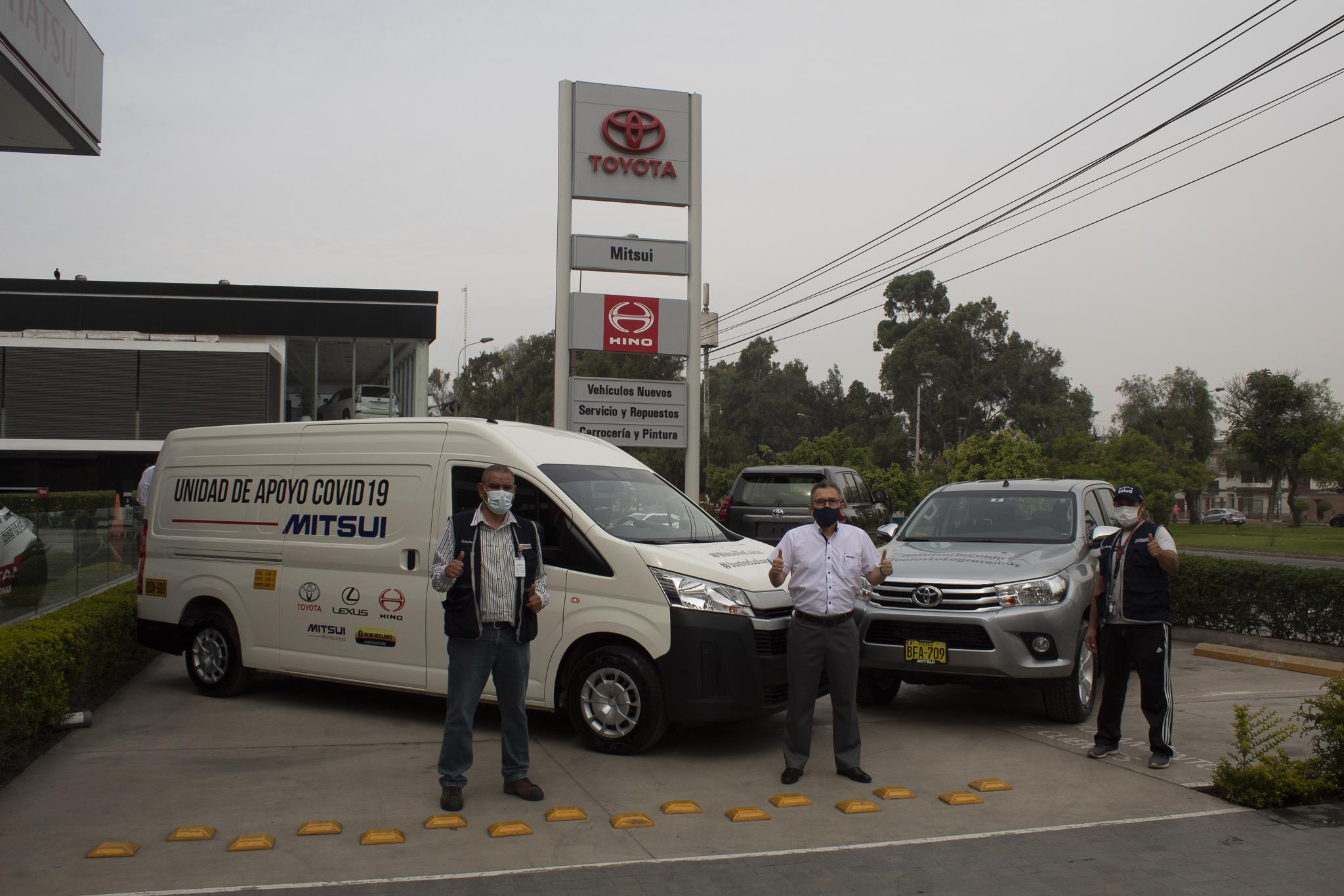 Mitsui Automotriz extiende el préstamo de sus vehículos al Ministerio de Salud
