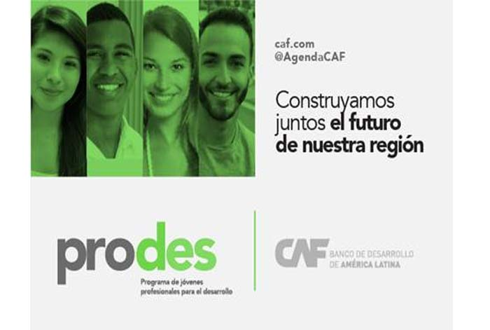 CAF ofrece oportunidades de empleo para jóvenes comprometidos con el desarrollo de América Latina