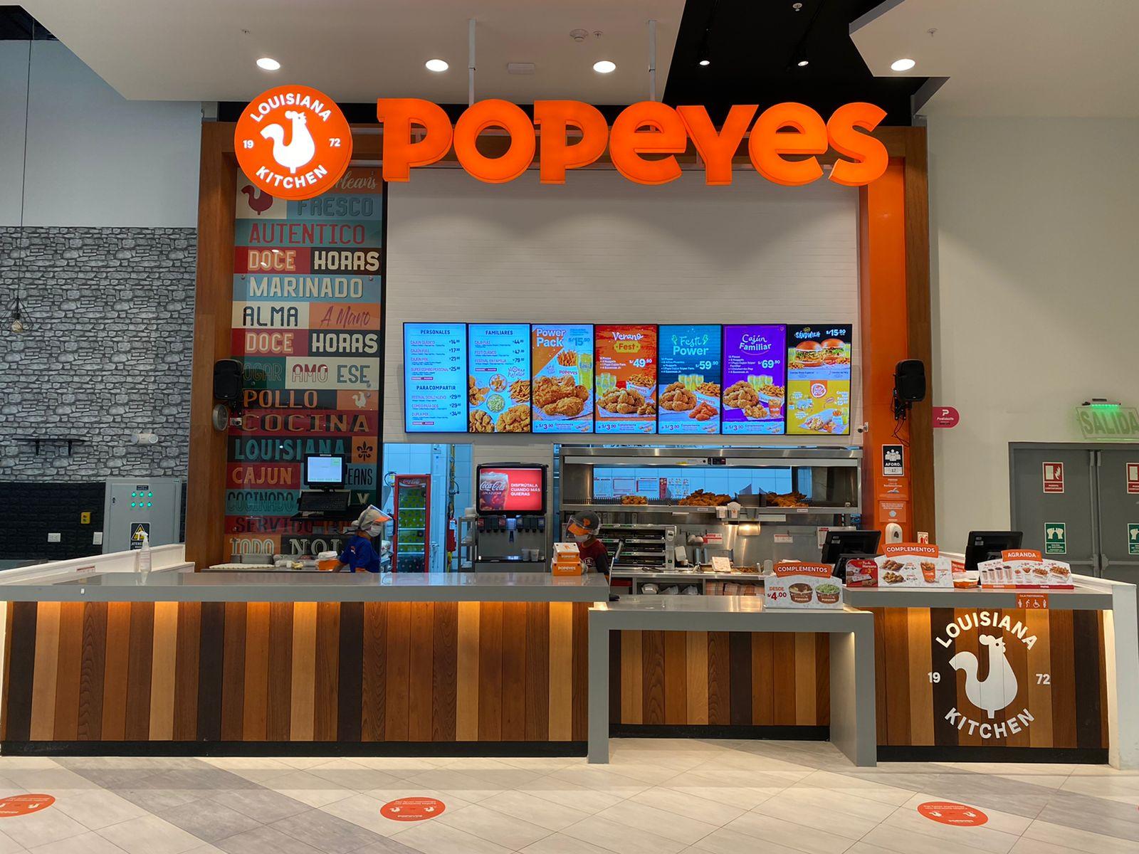 Popeyes inaugura en Mallpalza Comas su primera tienda desde que se decretó el Estado de Emergencia