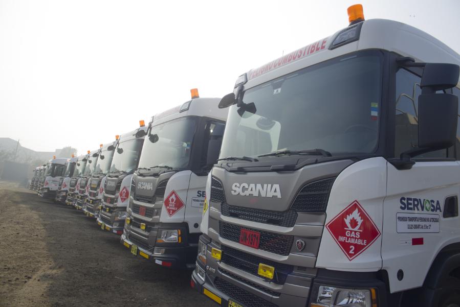 scania y servosa lideran el transporte sustentable con vehículos a gnc