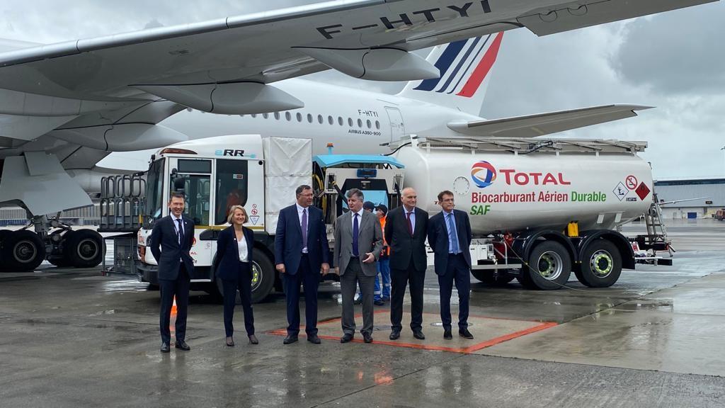 Air France-KLM, Total, Groupe ADP y Airbus unen fuerzas para descarbonizar el transporte aéreo y llevar a cabo el primer vuelo de larga distancia impulsado por Combustible de aviación sostenible producido en Francia