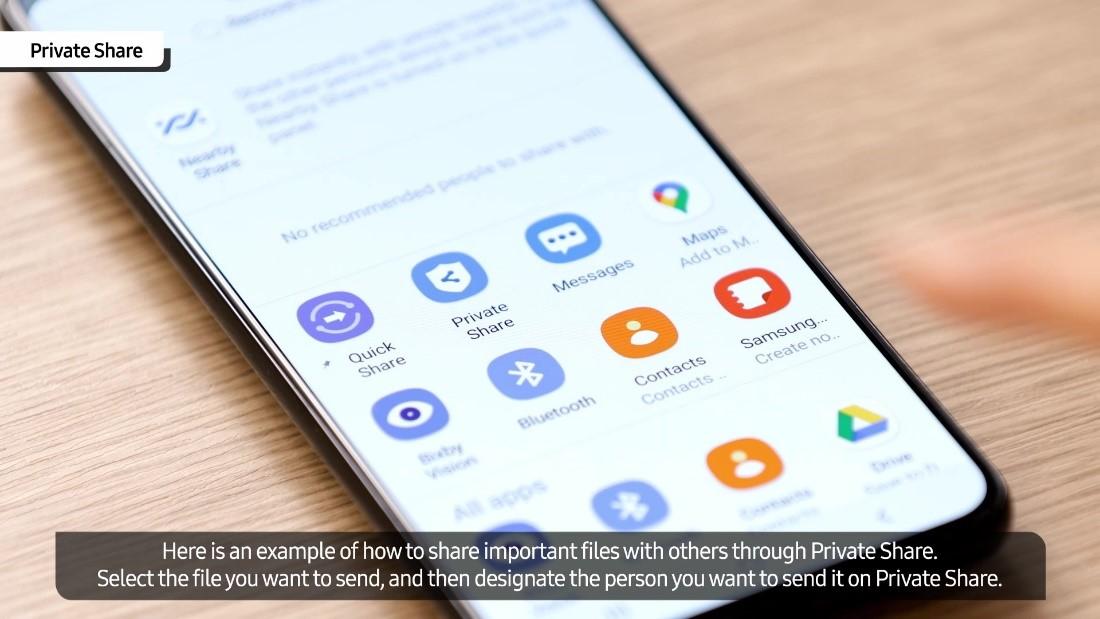 Conoce Private Share presente en la línea Samsung Galaxy S21