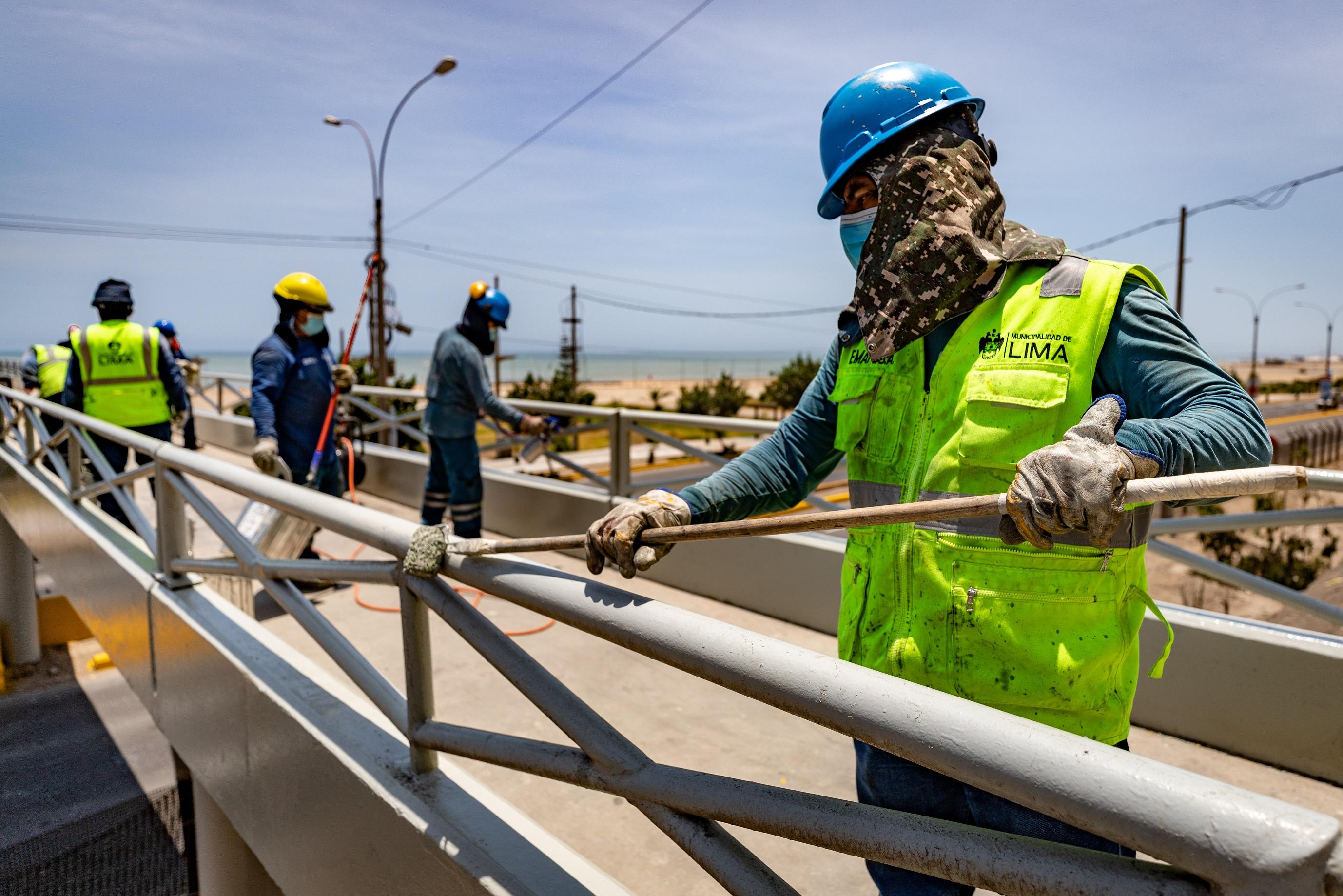 Entre enero y abril la Municipalidad de Lima realizó trabajos de mantenimiento en 53 puentes