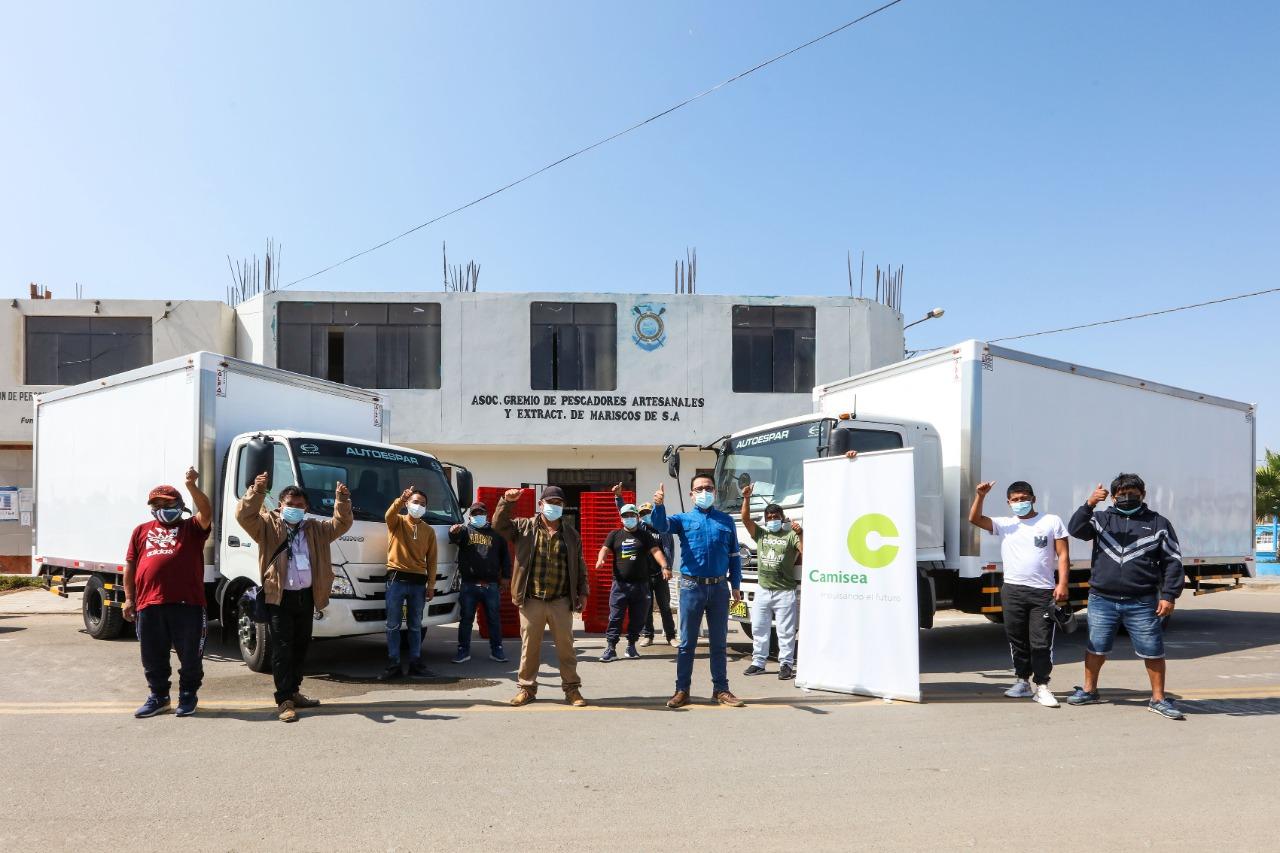 Donan camiones para facilitar trabajo de pescadores en Pisco