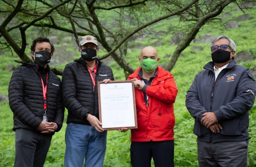 Minam entrega a UNACEM reconocimiento como Área de Conservación Privada a las Lomas de Quebrada Río Seco