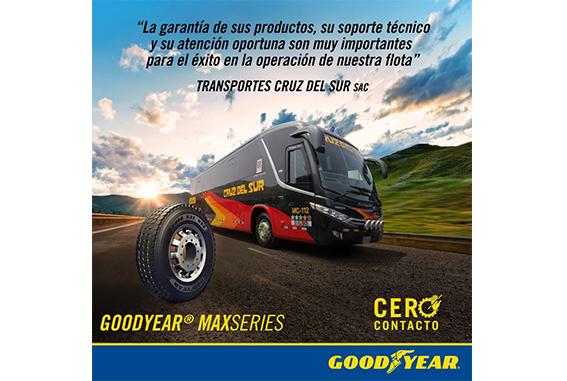Los neumáticos Goodyear de la línea MaxSeries son los aliados perfectos para la empresa de transporte Cruz del Sur