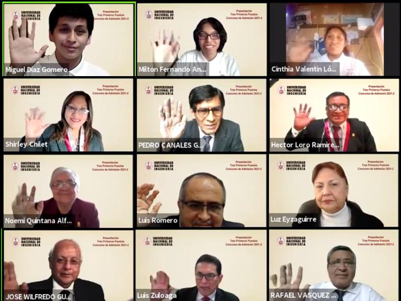 UNI: Conoce a los primeros puestos del Concurso de Admisión 2021-2