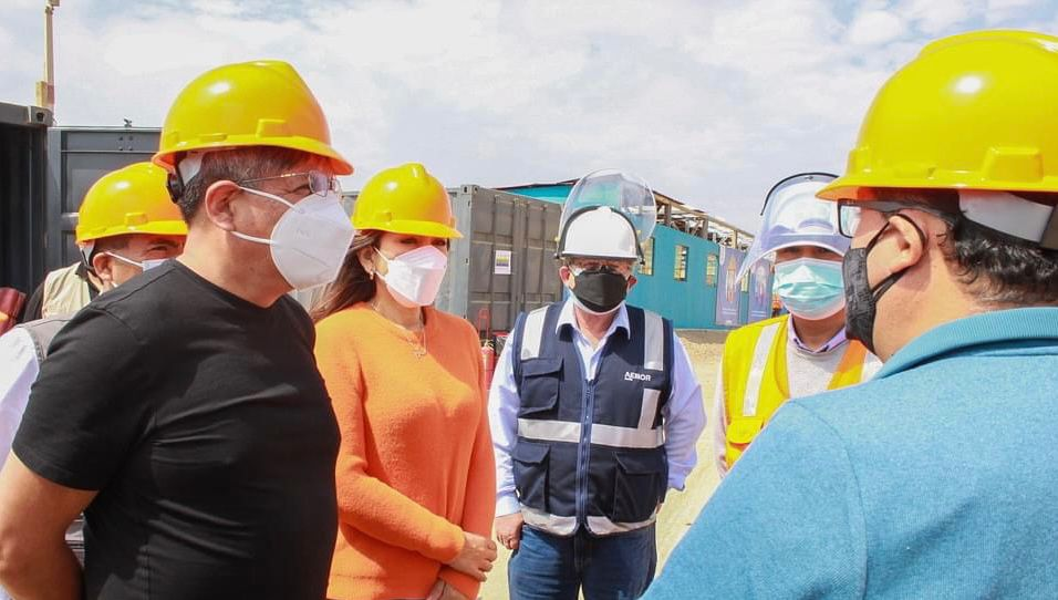 Ministro de Energía y Minas y congresistas por Áncash visitaron las instalaciones de Antamina en Huarmey