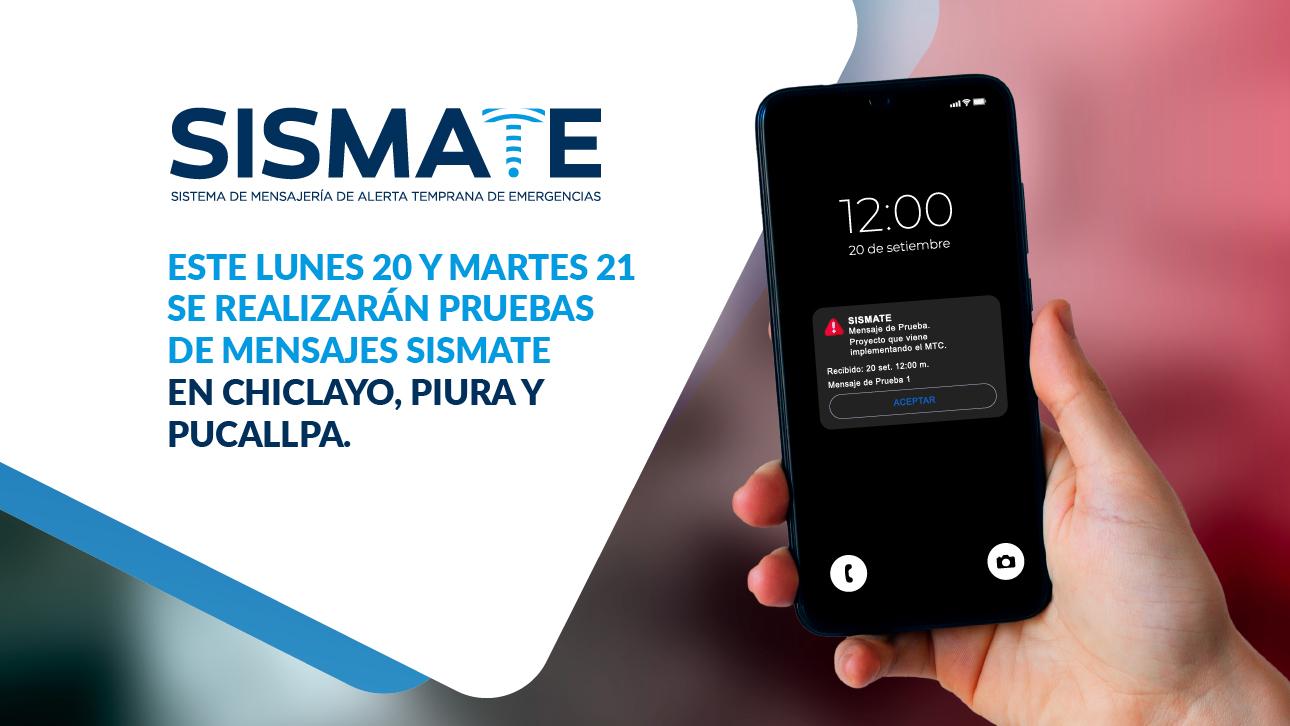 Sismate continúa con el envío de mensajes de pruebas para su implementación