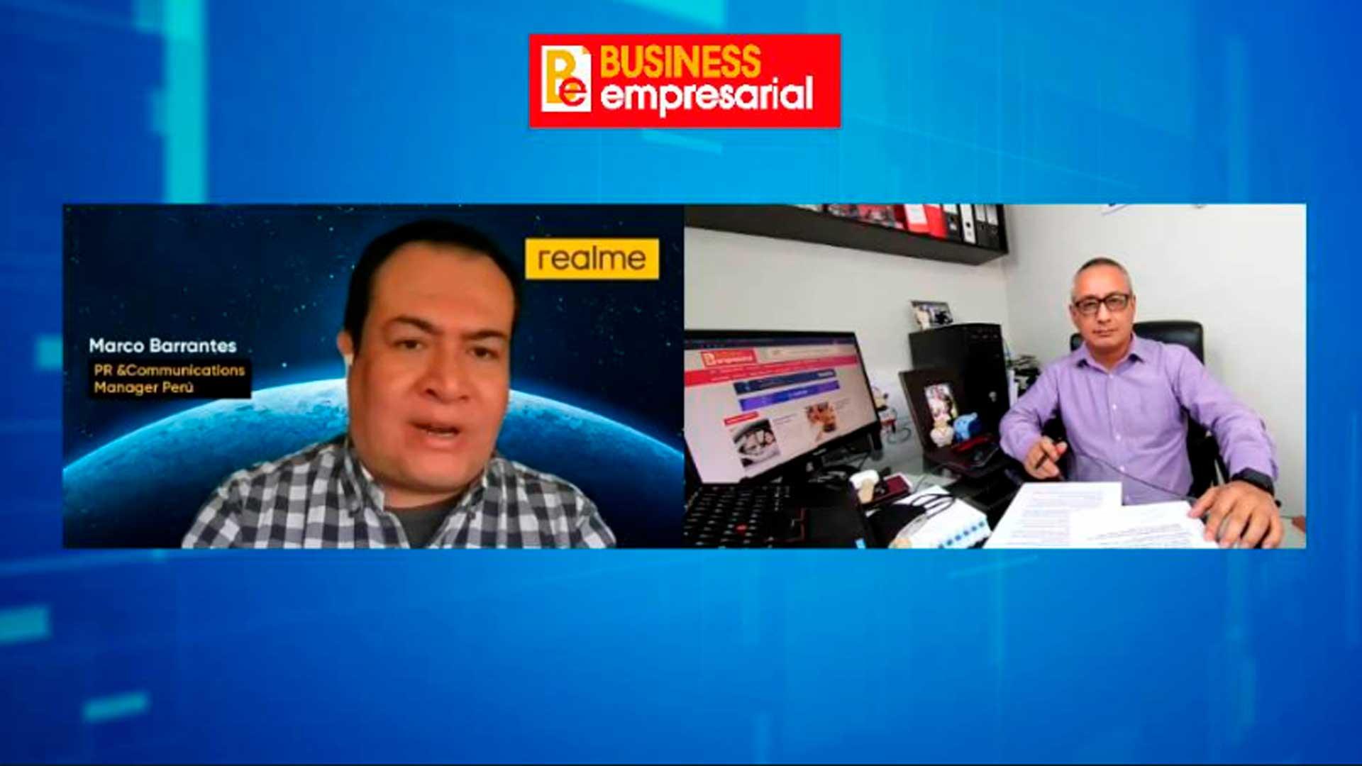 Marco Barrantes, Gerente de Relaciones Públicas y Comunicaciones de realme Perú