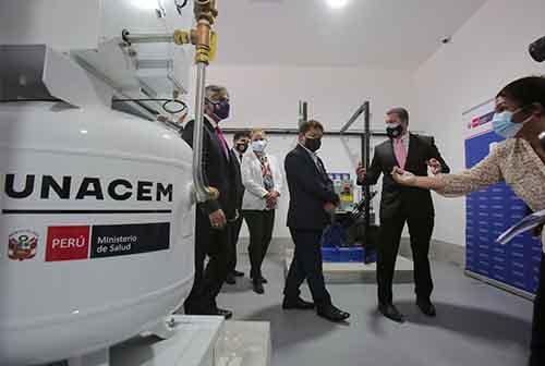 Planta de Oxígeno medicinal donada por UNACEM es inaugurada