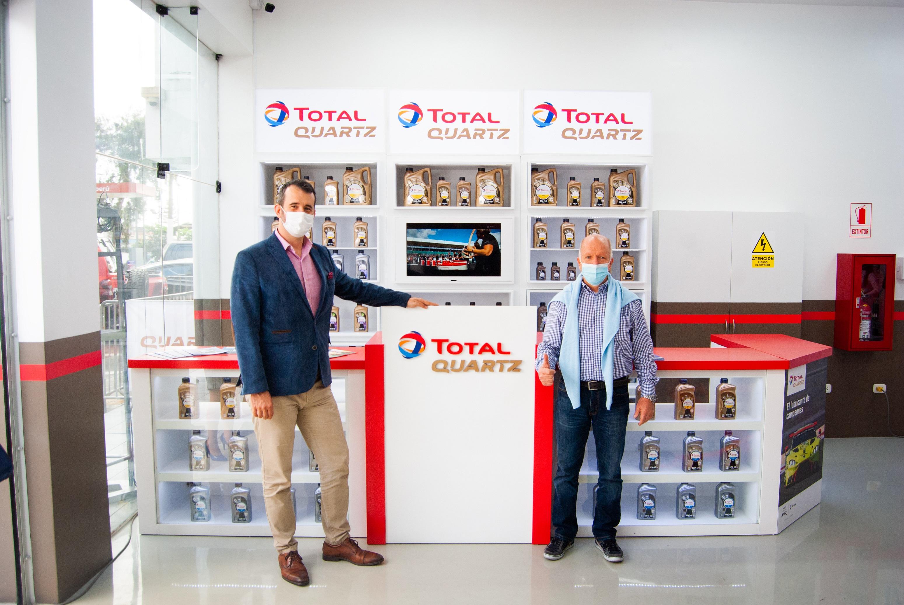 TotalEnergies inaugura primer Lubricentro Premium en el Perú Rapid Oil Change TOTAL QUARTZ - ROMA