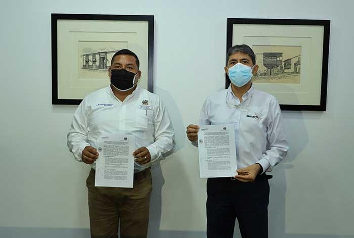 Sunarp y la Municipalidad Provincial de Trujillo suscriben acuerdo para gestionar inscripciones de manera virtual